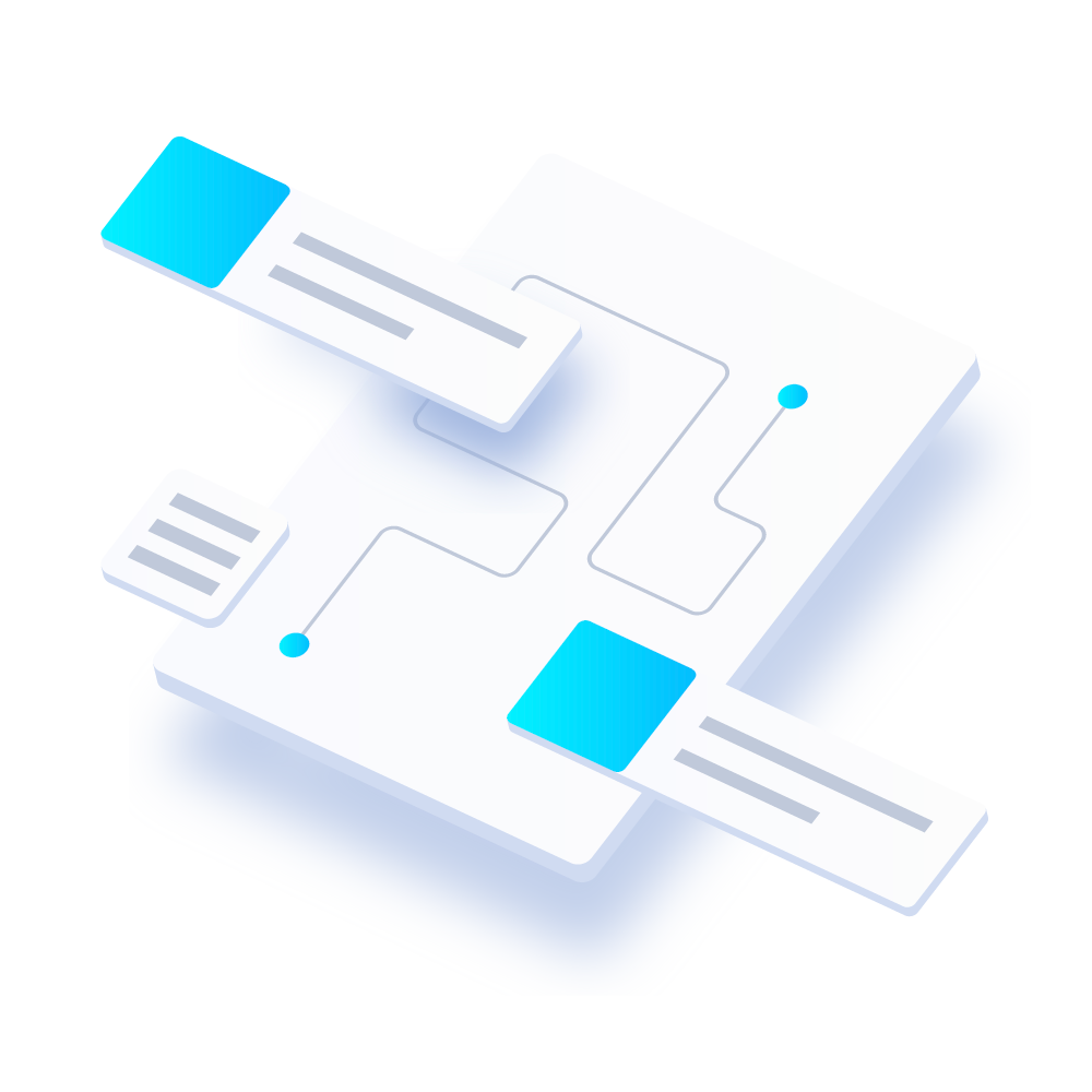 2 blue box illustration
