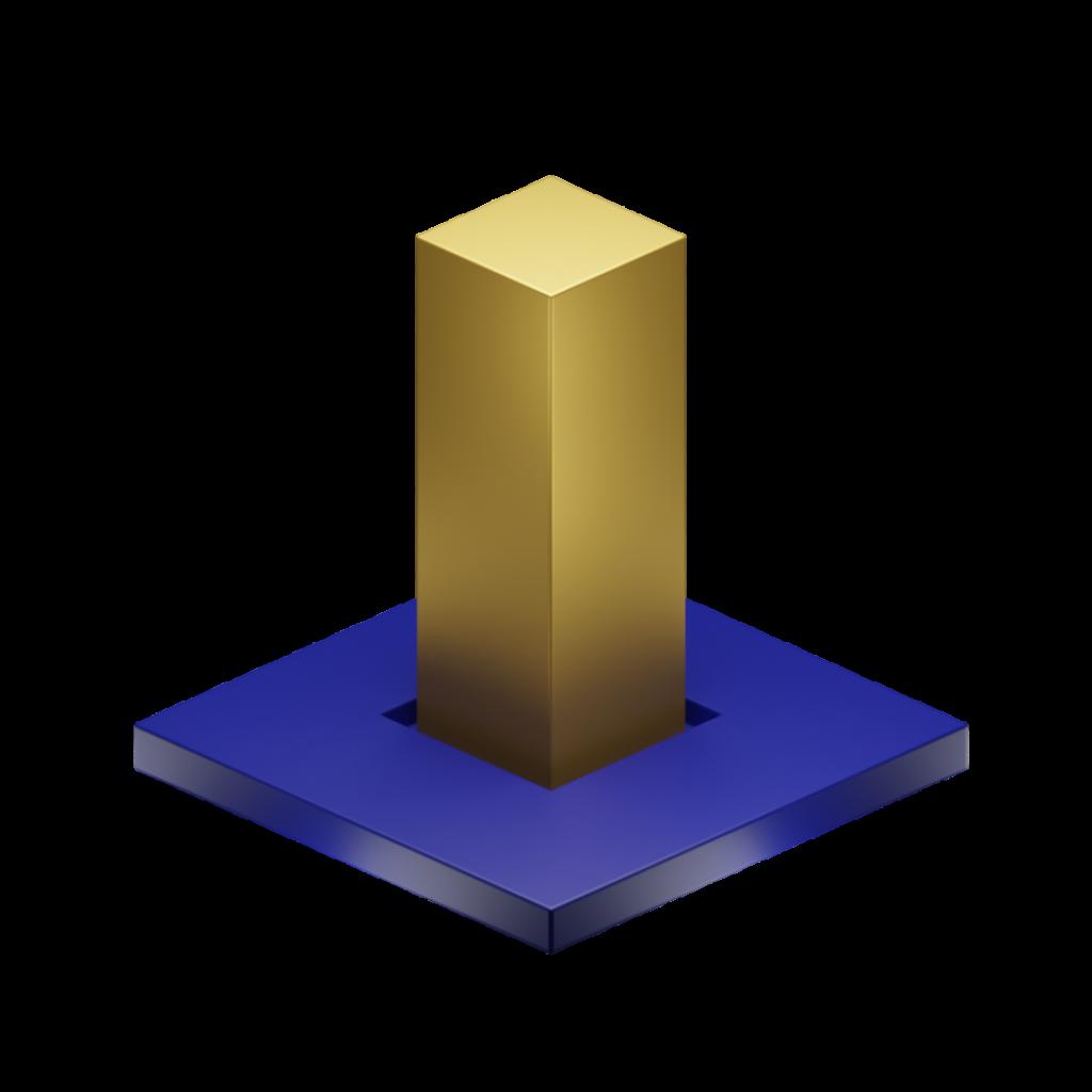 one gold bar