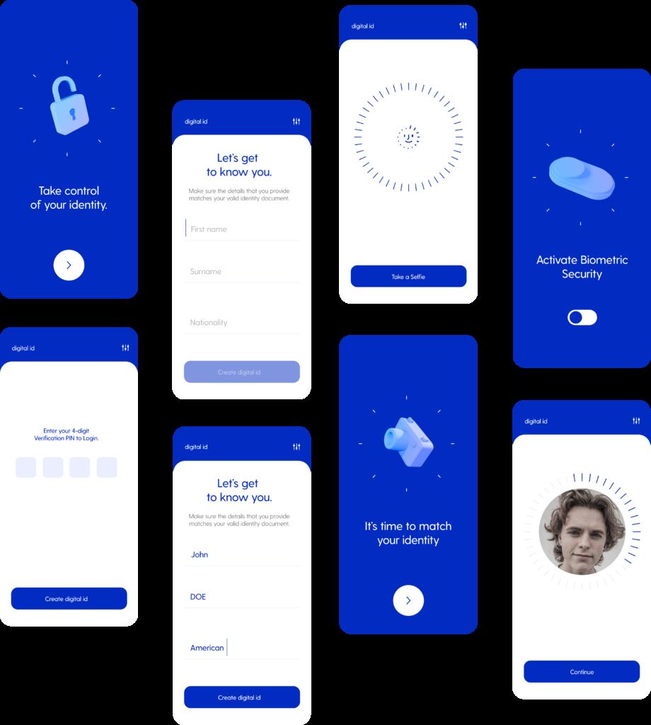 Block Gemini - Mobile design screens for display