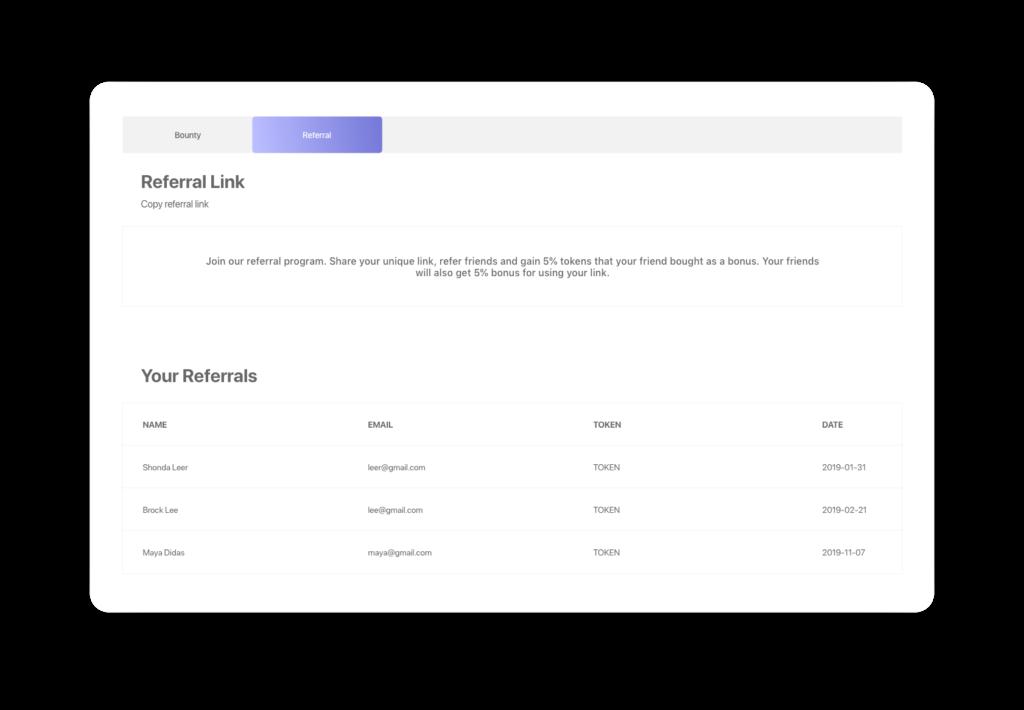 Block Gemini - Referral Link Design