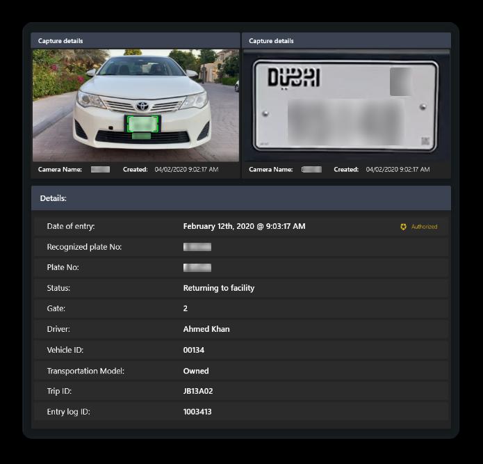 Block Gemini - ALPR Dashboard
